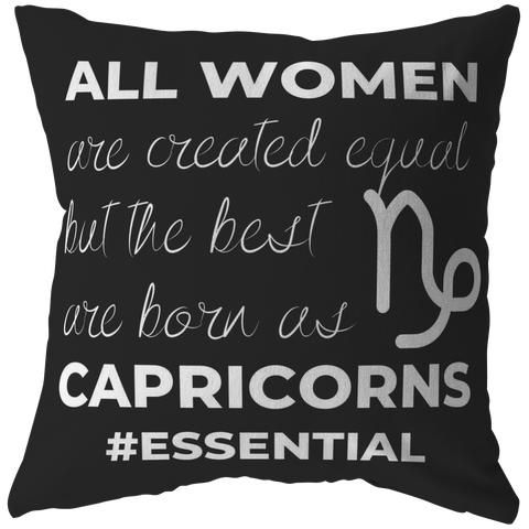 The Best Women Are Born Capricorns Pillow - ZodiActiveLife