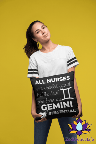 The Best Nurses Are Gemini Pillow #Essential - ZodiActiveLife