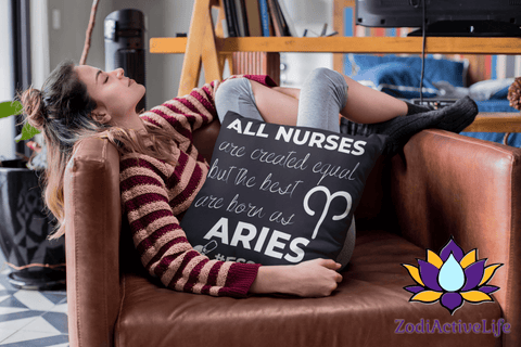 The Best Nurses Are Aries Pillow #Essential - ZodiActiveLife