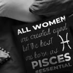 The Best Women Are Born Pisces Pillow - ZodiActiveLife