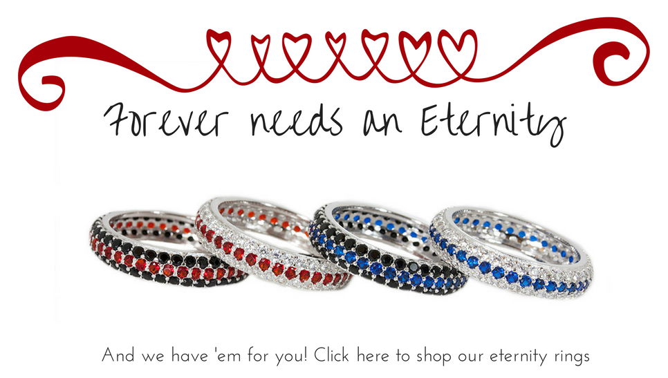 Thin Blue Line Eternity Rings Thin Red Line