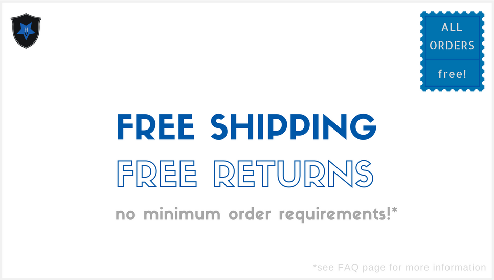 Free Shipping Free Returns in USA