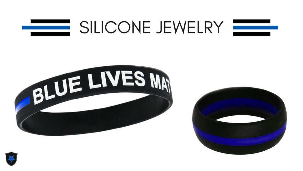 Thin Blue Line Silicone Jewelry