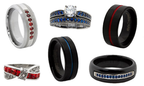 Thin Blue Line Thin Red Line Jewelry