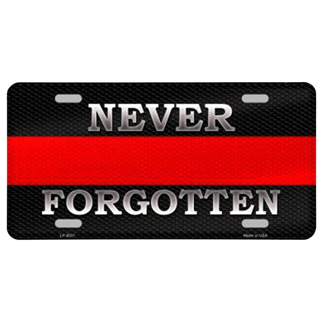 Never Forgotten Firefighter Vanity Plate