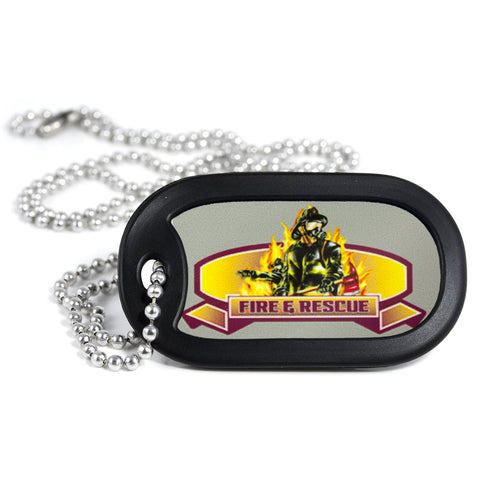 Fire & Rescue Firefighter Dog Tag