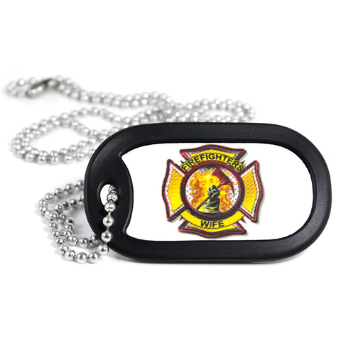 Firefighter's Wife Dog Tag