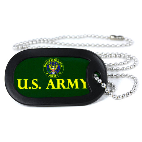 U.S. Army Metal Dog Tag Necklace