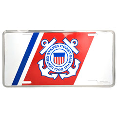 US Coast Guard Metal License Plate