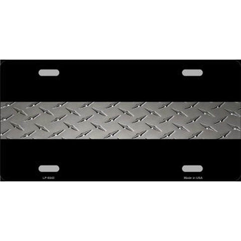 Corrections Thin Silver Line Metal License Plate
