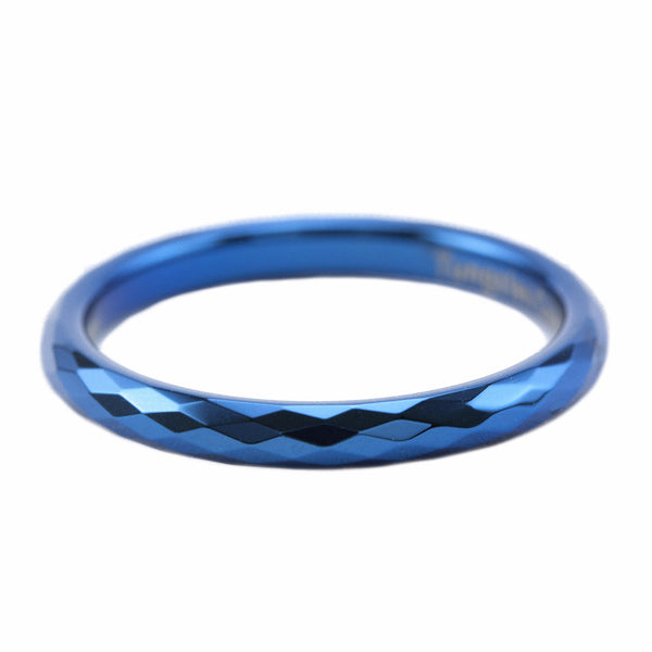 Faceted Blue Stackable Ring