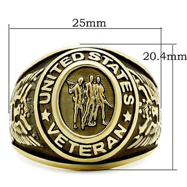 Ring Gold US Veterans