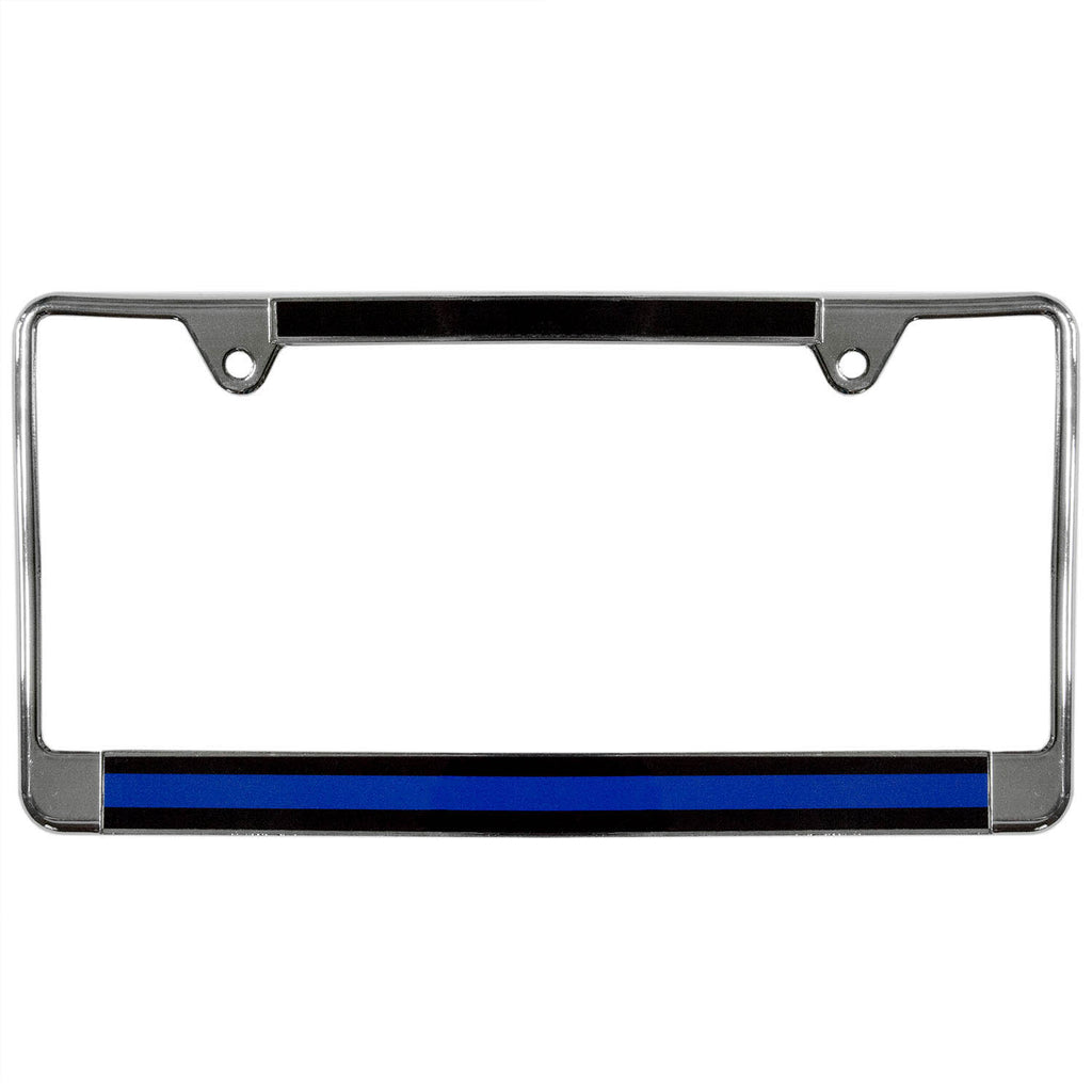 Metal License Plate Frame Thin Blue Line – Honor Valor