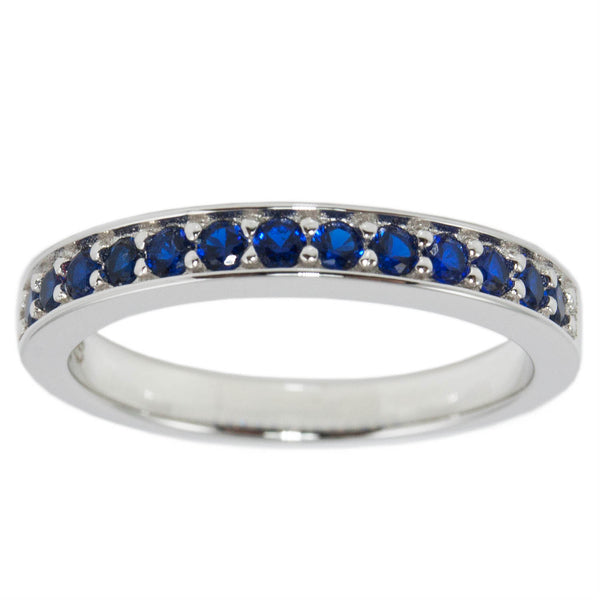 Thin Blue Line Sterling Silver Accent Band