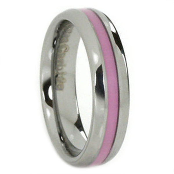 Breast Cancer Awareness 6mm Tungsten Ring