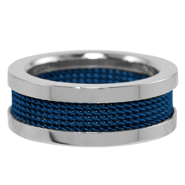 Thin Blue Line Mesh Band 8mm