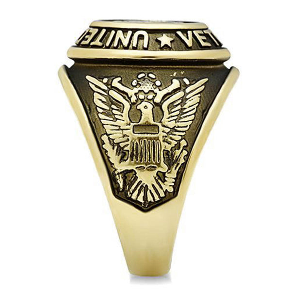 Gold US Veterans Ring
