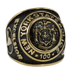 New York State Police 100th Anniversary Gold Ring