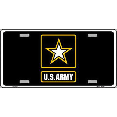 Army Black Metal License Plate