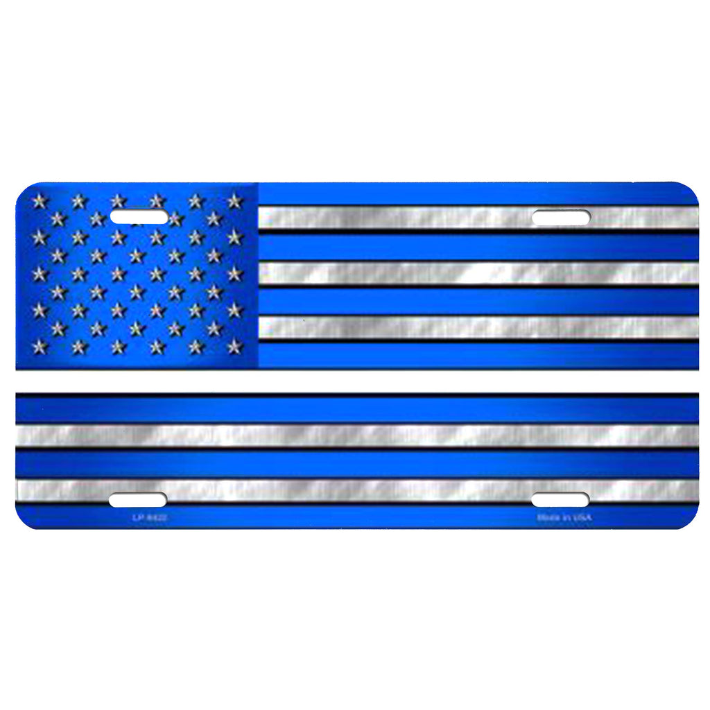 EMS American Flag License Plate