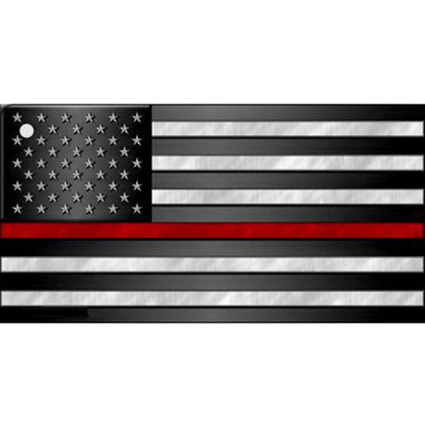 Thin Red Line Flag Key Chain