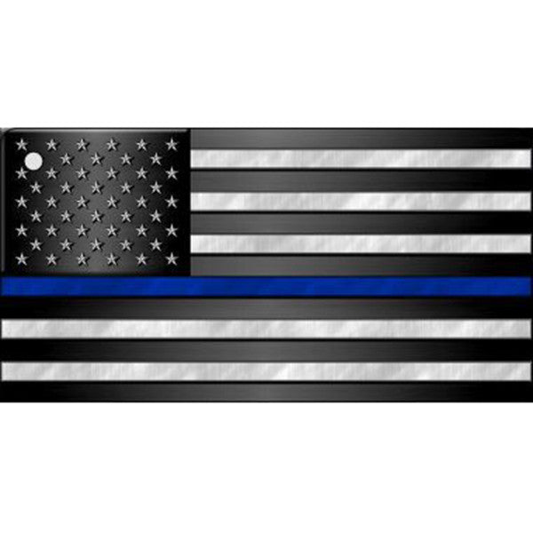 Thin Blue Line Flag Key Chain