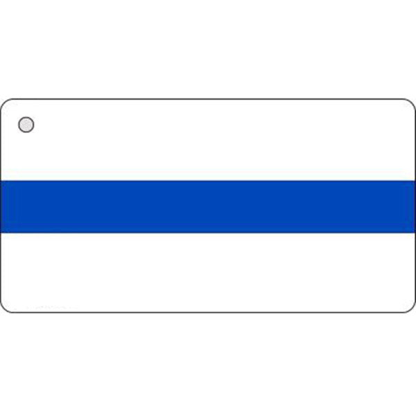 Thin Blue Line on White Key Chain