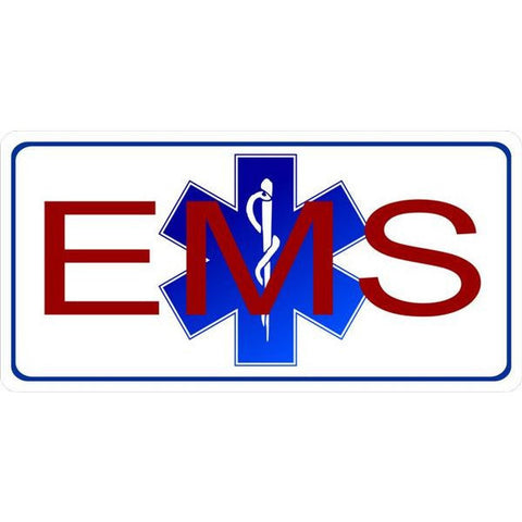 EMS License Plate