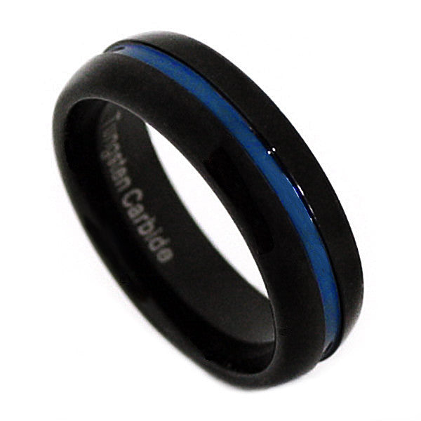 Thin Blue Line 7mm Ring