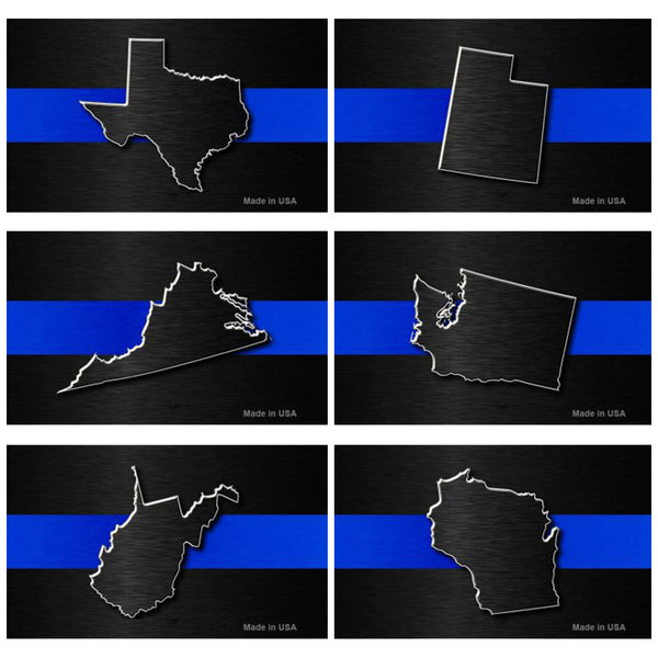 Thin Blue Line State Magnets