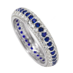 Eternity Thin Blue Line Clear and Blue Ring