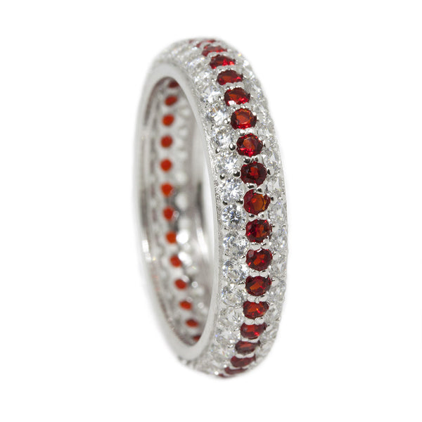 Eternity Thin Red Line Clear and Red Ring