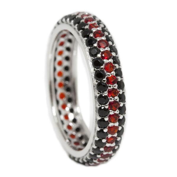 Eternity Thin Red Line Black and Red Ring
