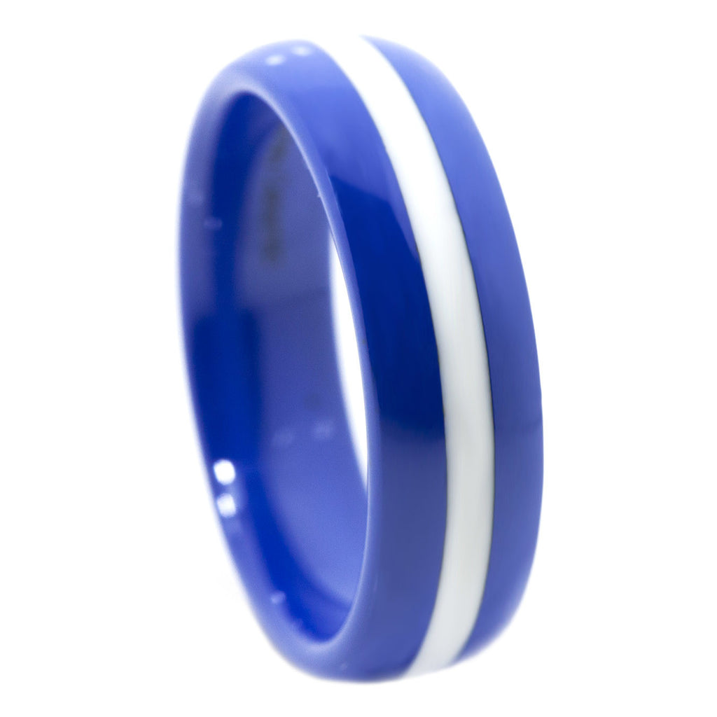 Thin White Line 6mm Ring