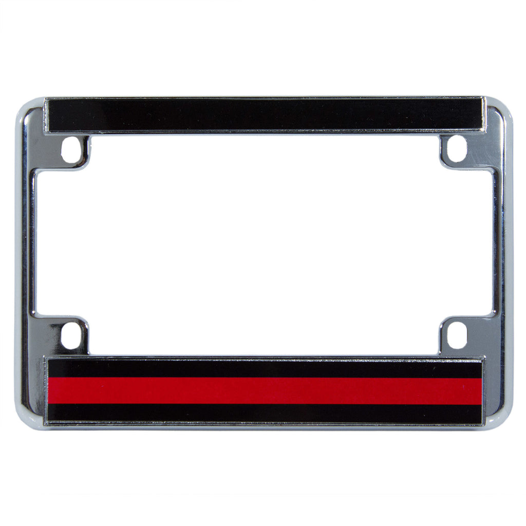 Thin red line motorcycle frame