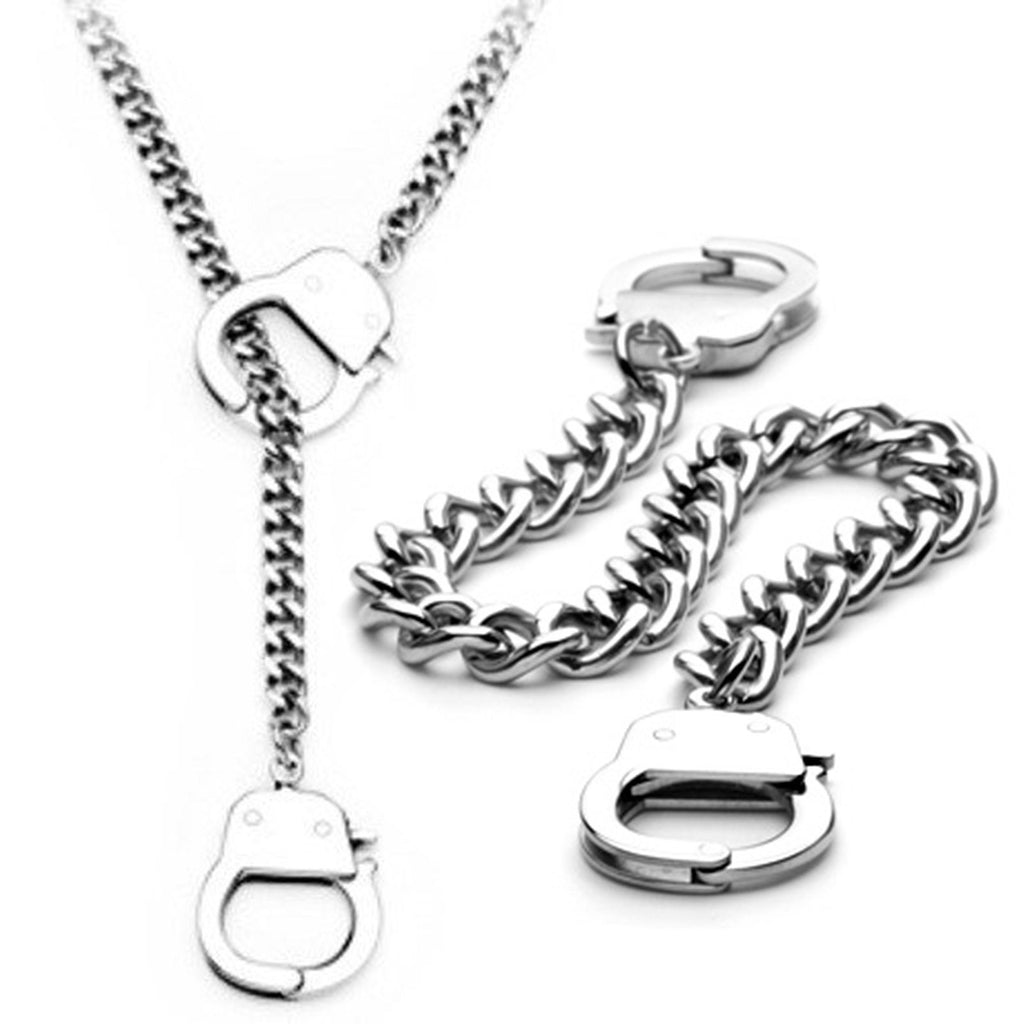 Handcuff Necklace Bracelet Set