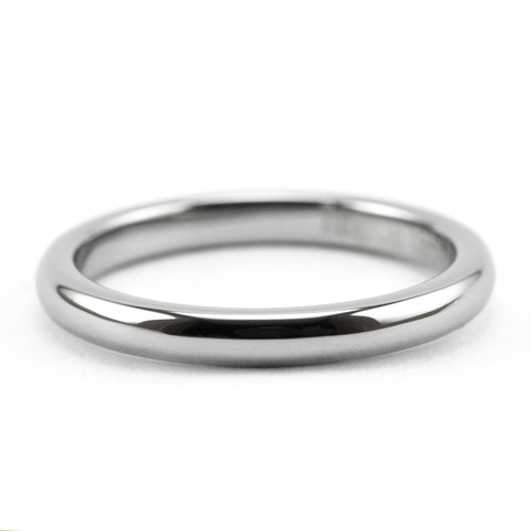 Silver Tungsten Stackable Ring