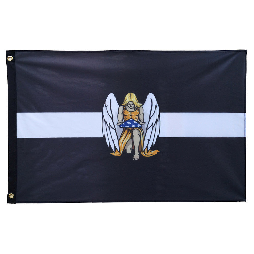 Thin White Line EMS Memorial Flag