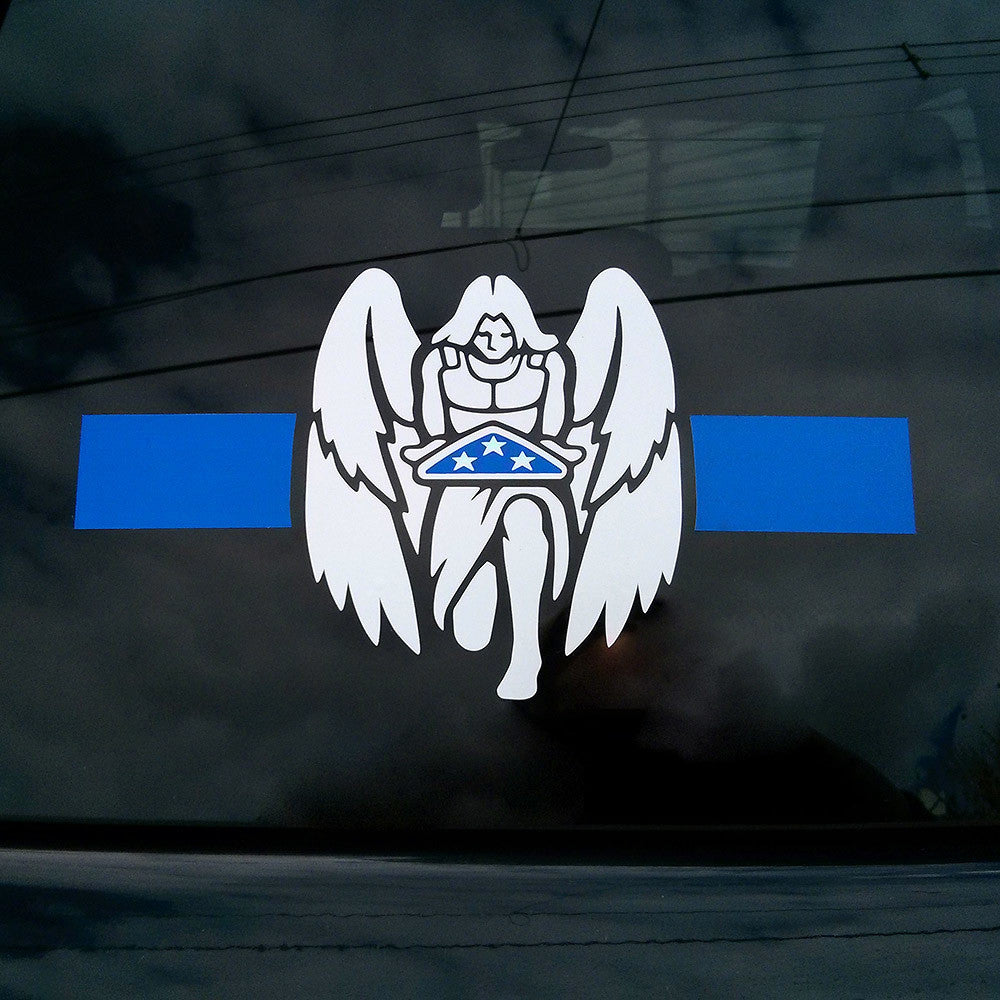 Thin Blue Line LEO Memorial Decal
