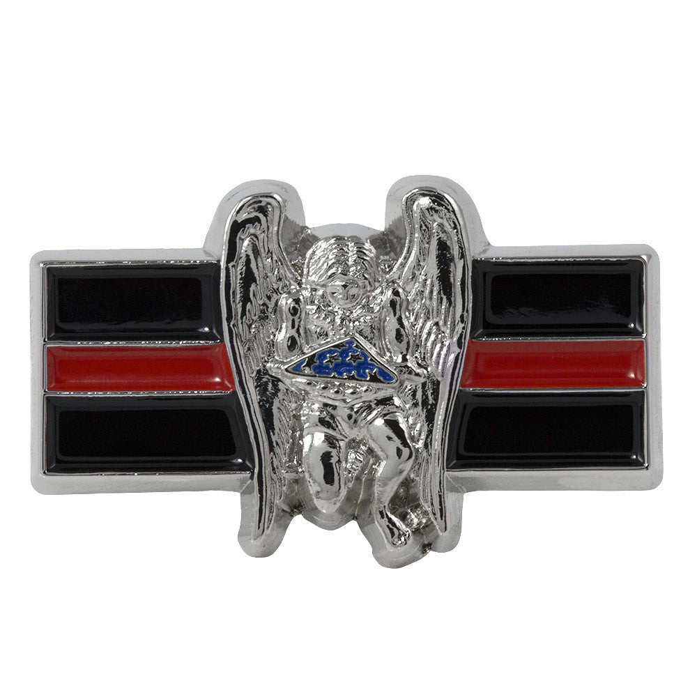 Thin Red Line Firefighter Memorial Pin