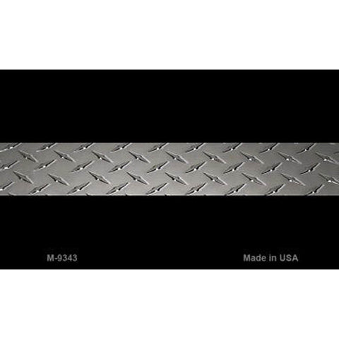 Thin Silver Line Diamond Plate Metal Magnet