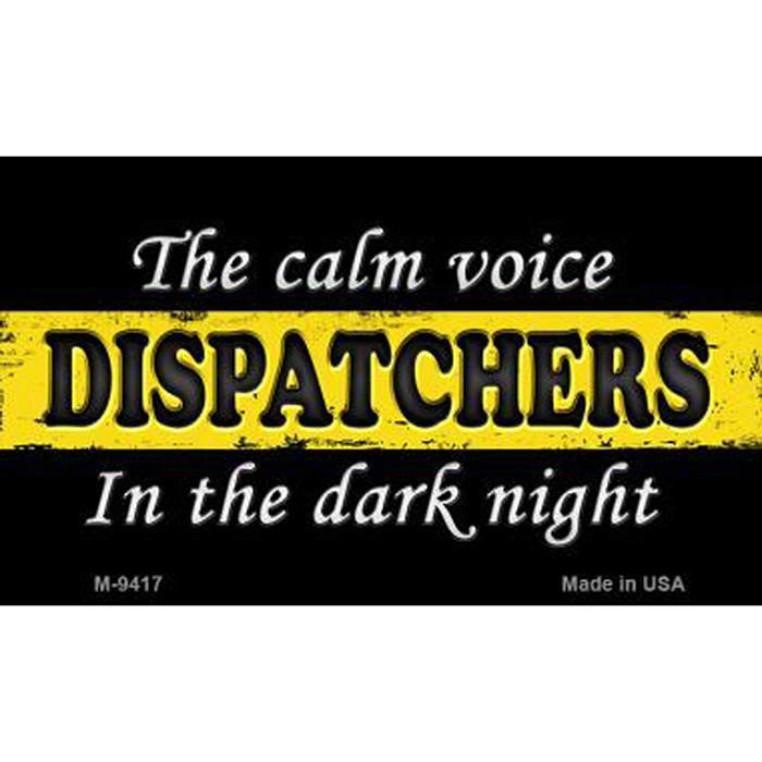 Dispatchers Thin Gold Line Metal Magnet