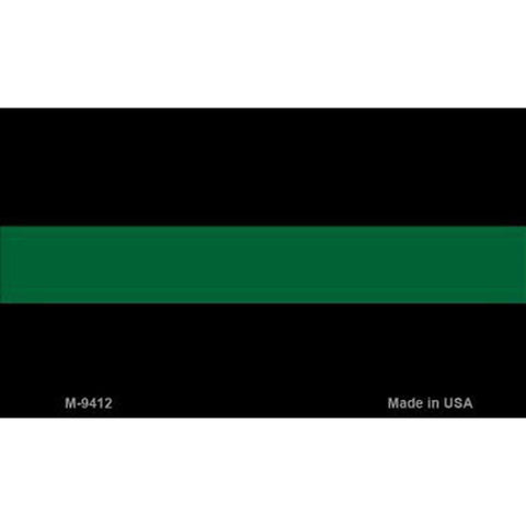 Thin Green Line Metal Magnet