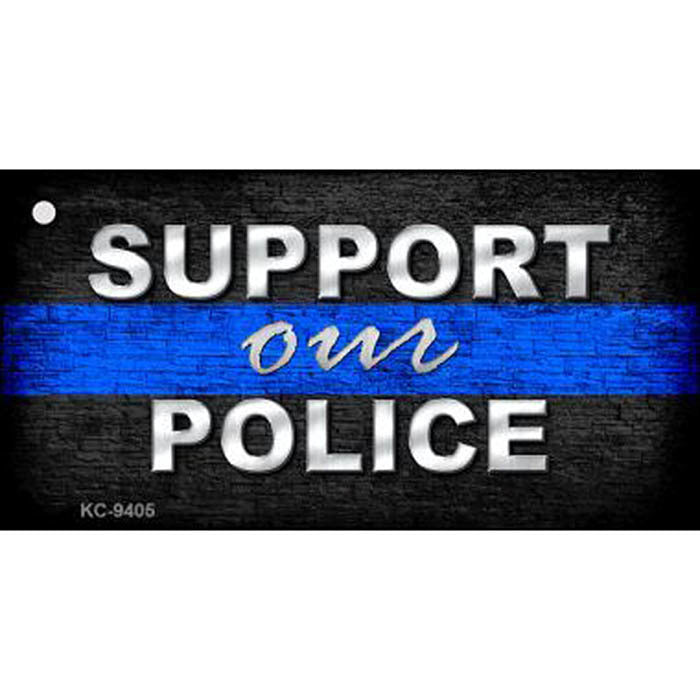 Thin Blue Line Support Our Police Key Chain
