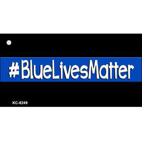 Thin Blue Line #BlueLivesMatter Key Chain