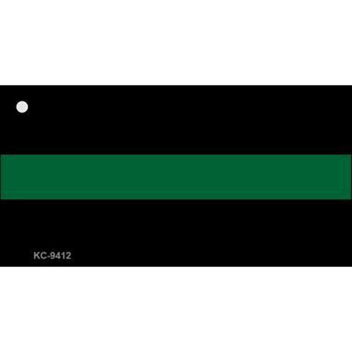 Thin Green Line Metal Key Chain