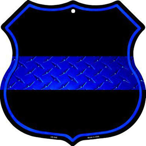 Thin Blue Line Shield Sign
