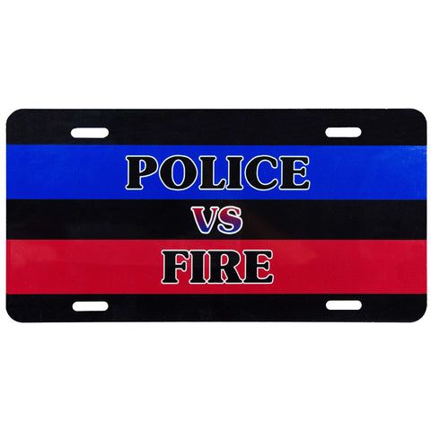 License Plate Police vs Fire