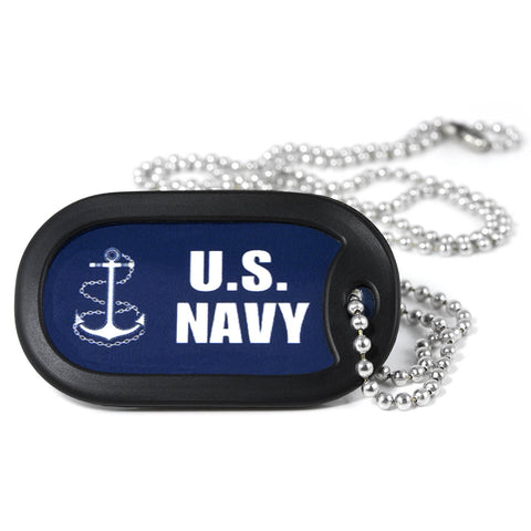 U.S. Navy Metal Dog Tag Necklace