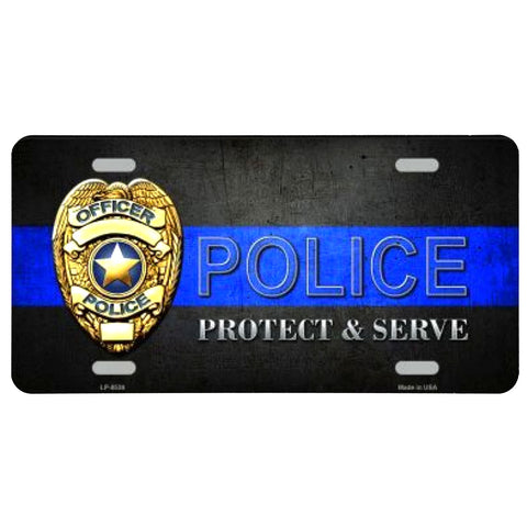 Police Protect & Serve License Plate